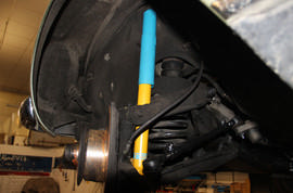 "BILSTEIN high-performance shocks knock some sense into the ""Pagoda"" suspension"